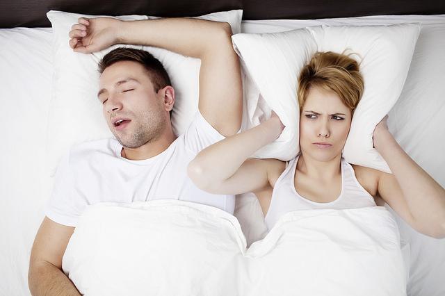 Snoring man problem.